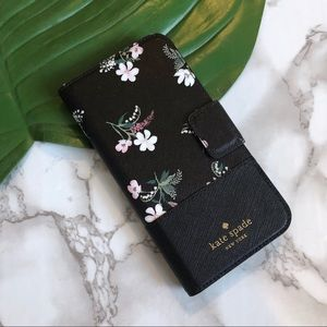 New! Kate Spade Floral Folio iPhone X Wallet Case